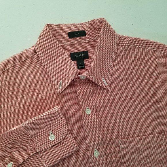 J. CREW Baird McNutt Irish Linen Slim Fit Shirt